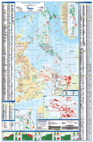 North Sea Energy Infrastructure Map