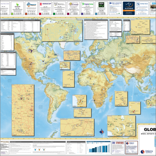 Global Uranium Mines and Deposits Map