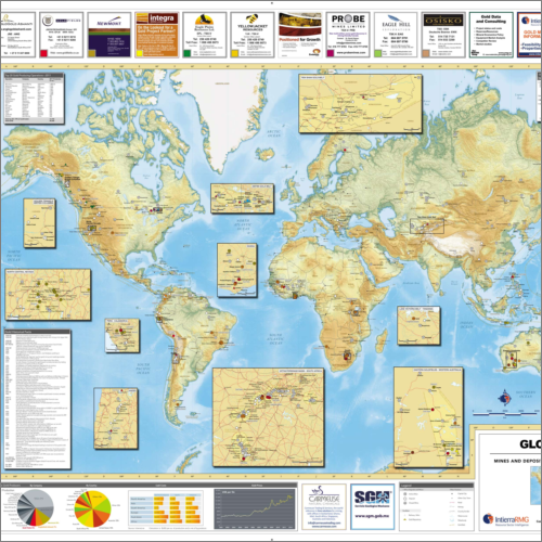 Global Gold Mines and Deposits Map