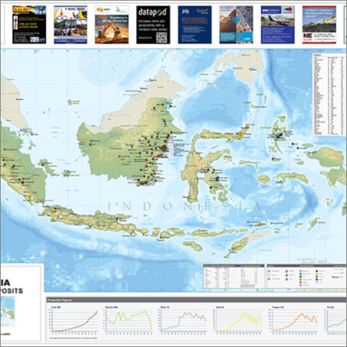 Indonesian Mines and Minerals Map