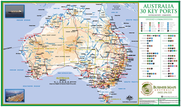 Shipping Ports of Australia - Ports and their Commodities.