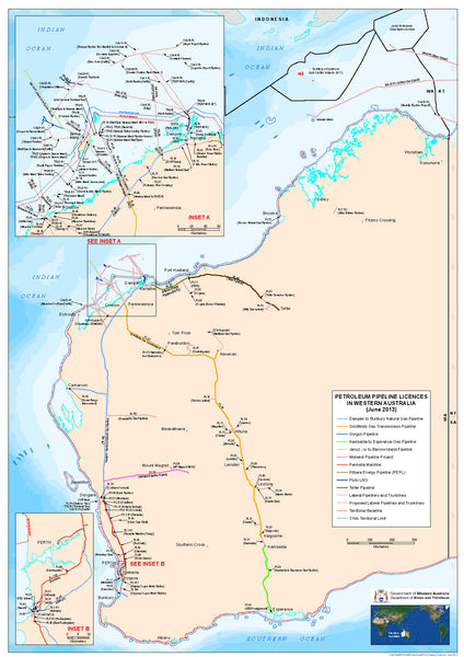 WA Petroleum Pipeline Licenses Map.