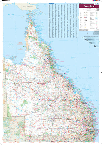 Queensland - Hema State Map