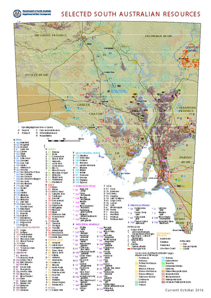 South Australia - Selected Mineral Resources