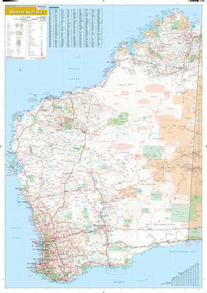 Western Australia State Road Map