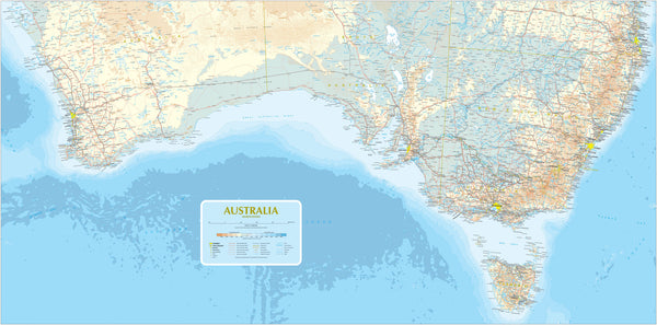 Custom Map of Southern Australia