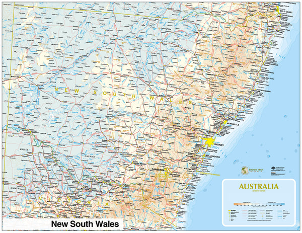 New South Wales Custom State Road map