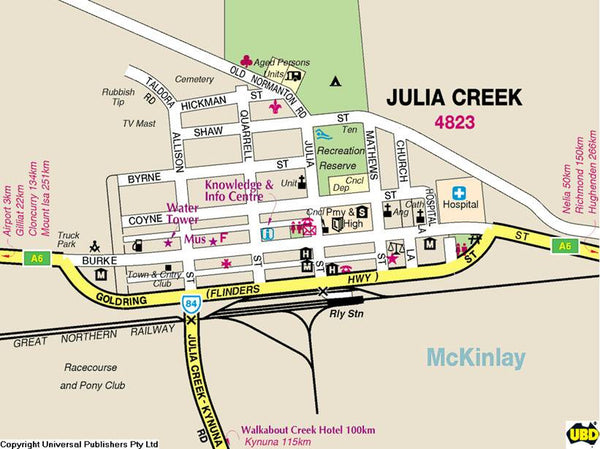Julie Creek Custom Road Map