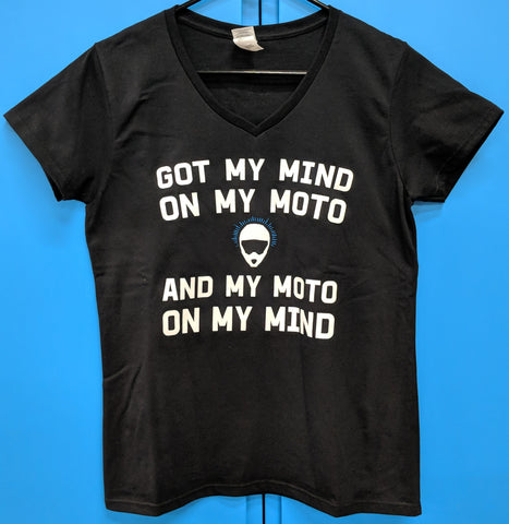 T-shirt - Mind on Moto - Womens - Black