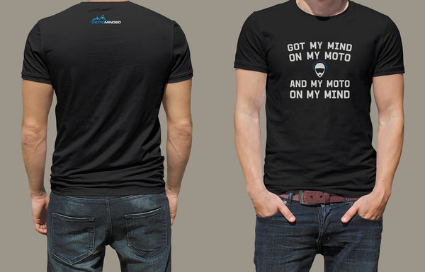 T-shirt - Mind on Moto - Black