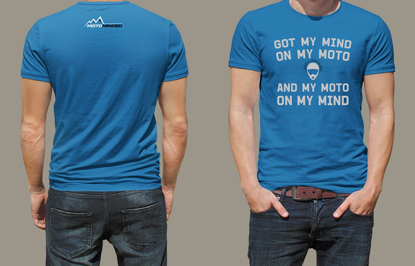 T-shirt - Mind on Moto - Blue