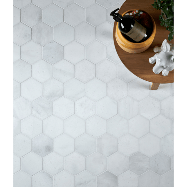 Ca'Pietra Long Island Marble Honed Large Hexagon Mosaic