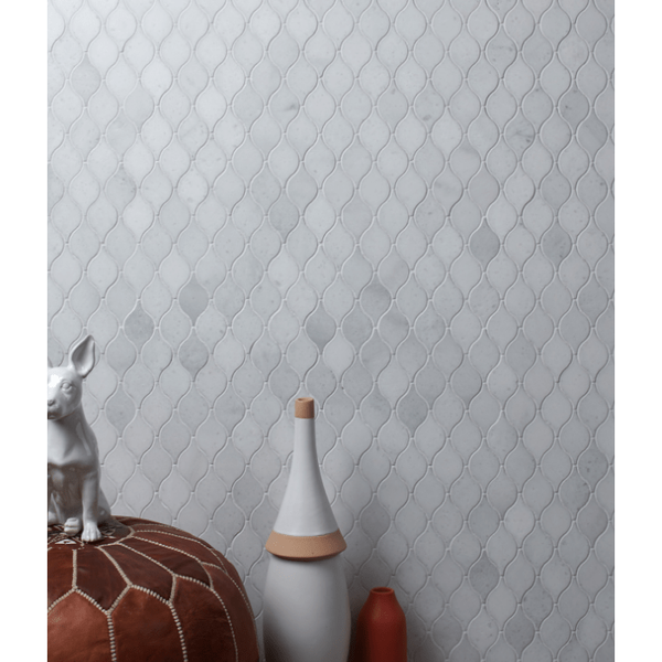 Ca'Pietra Long Island Marble Honed Teardrop Mosaic