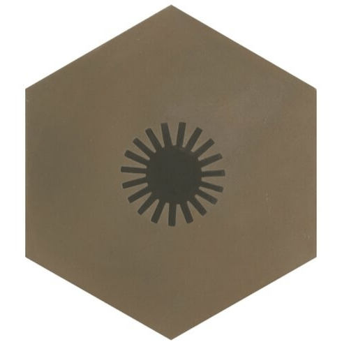 Jigsaw Sun Encaustic Tiles Neisha Crosland Sludge Grey