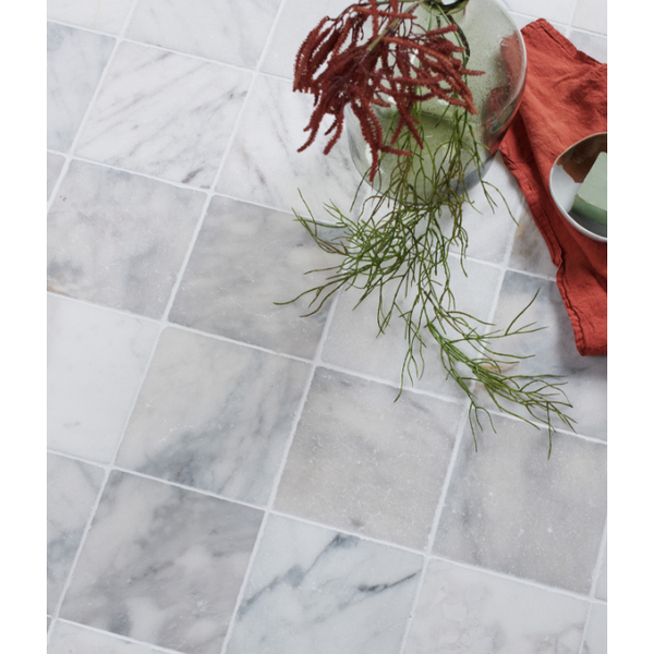 Ca Pietra Long Island Carrara Marble Tiles Tumbled