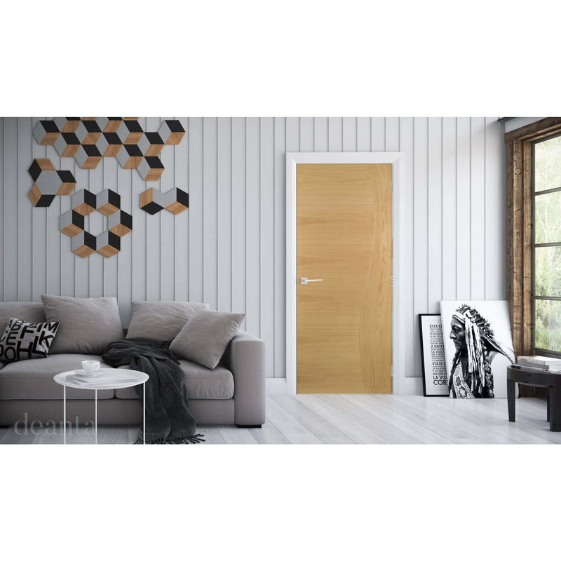 Deanta Cadiz Prefinished Internal Oak Fire Doors