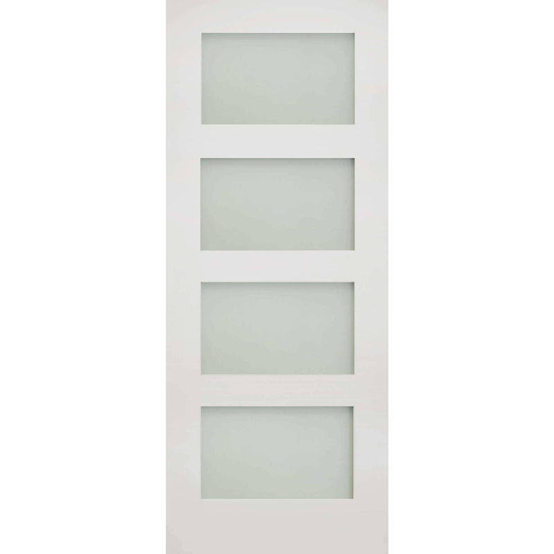 Deanta Coventry White Primed Obscure Glazed Standard Interior Door