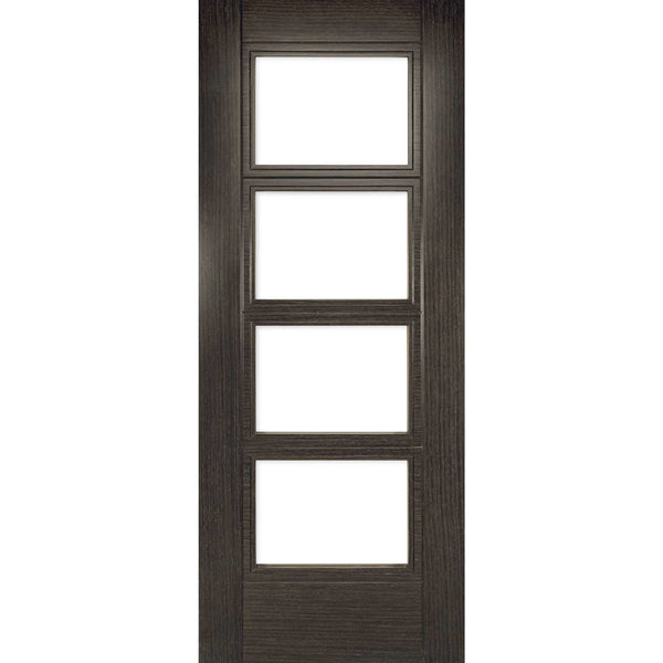 Deanta Glazed Montreal Dark Grey Ash Standard Interior Door