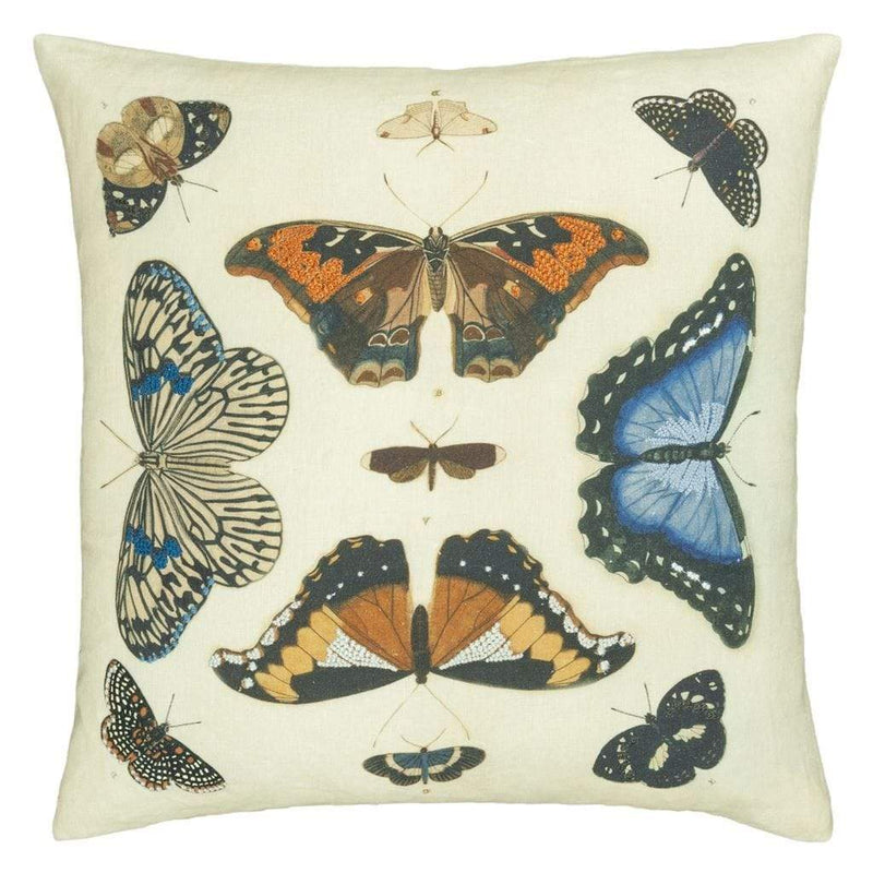 Mirrored Butterflies Parchment Cushion