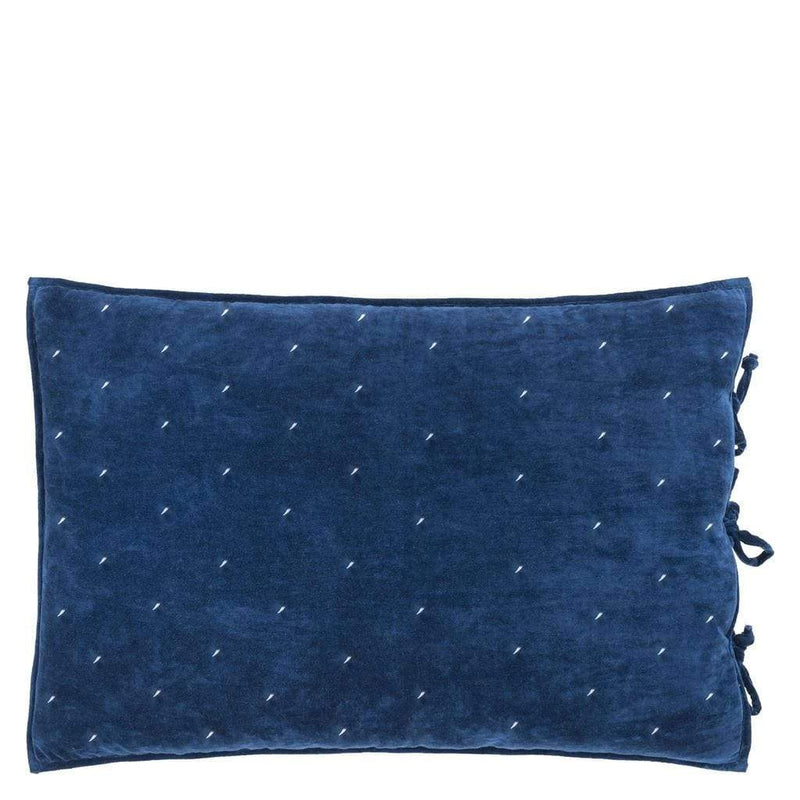 Sevanti Indigo Rectangular Quilted Cushion