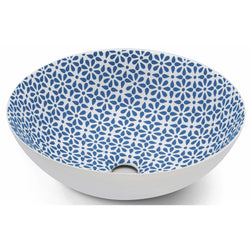 Blue White Painted sink basin