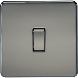 Knightsbridge Screwless Black Nickel Light Switch