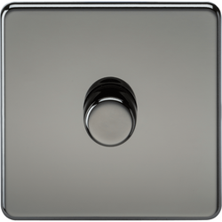 Screwless Dimmer Switch Black Nickel