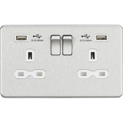 Chrome USB sockets