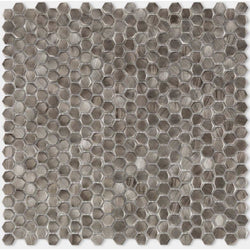 Porcelanosa Gravity Aluminium Hexagon Metal Mosaic