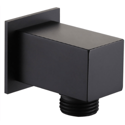 Black Square Outlet Elbow
