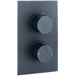 Black Shower Valves - Twin Concealed