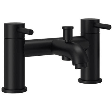Studio G Deck Mounted Bath Shower Mixer in Matt Black