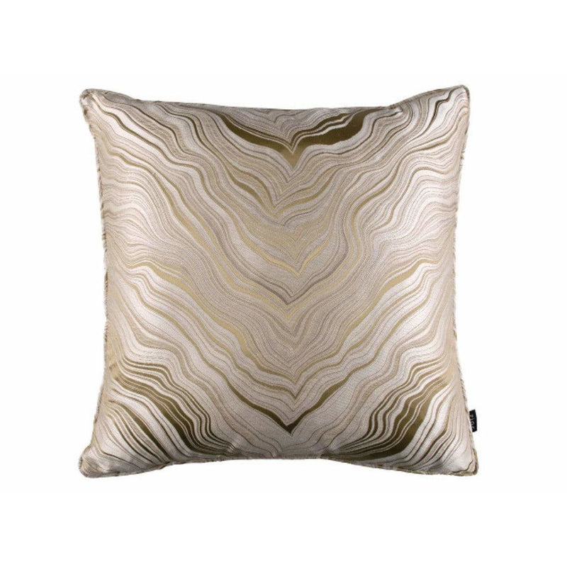 Zinc Textile Marbleous Piped Cushion Caramel