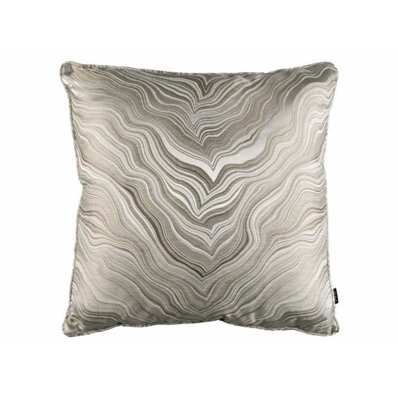 Zinc Textile Marbleous Piped Cushion Linen