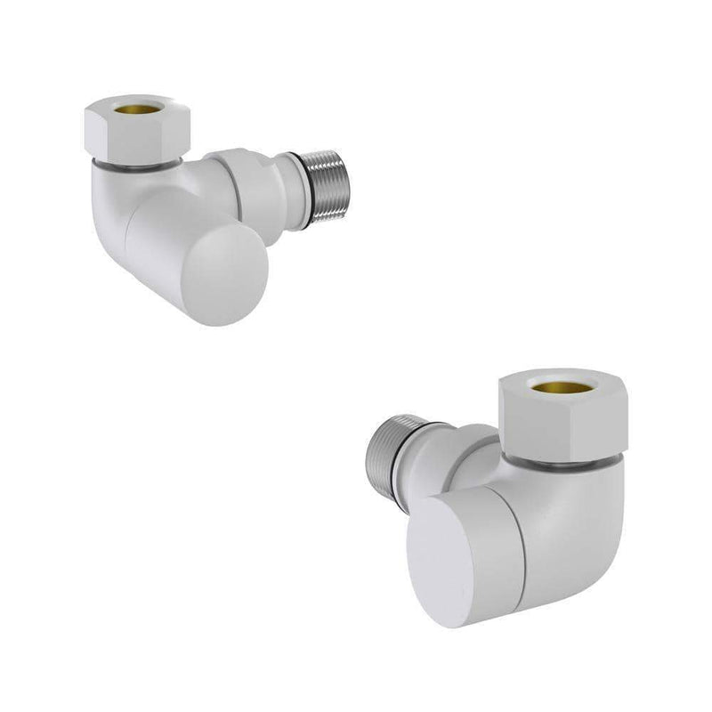 Hugo 2 Double Angle Valves White