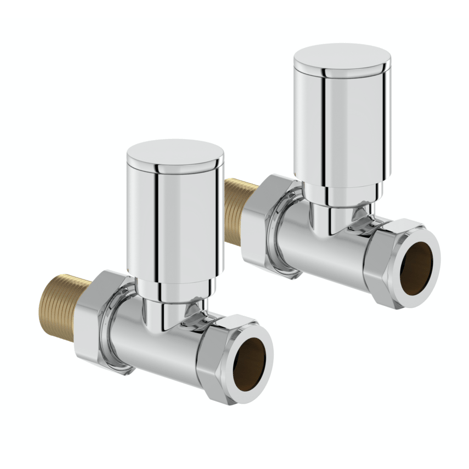 Hugo 2 Straight Angle Valves Chrome