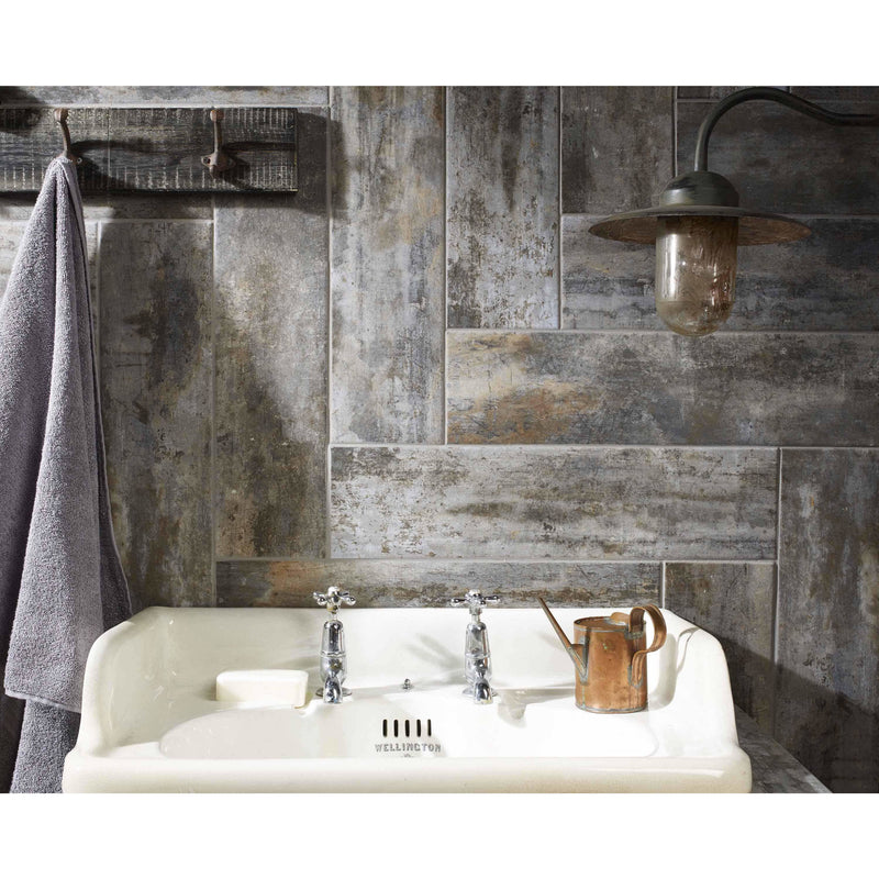 Waltham Distressed Grey Wood Effect Tiles