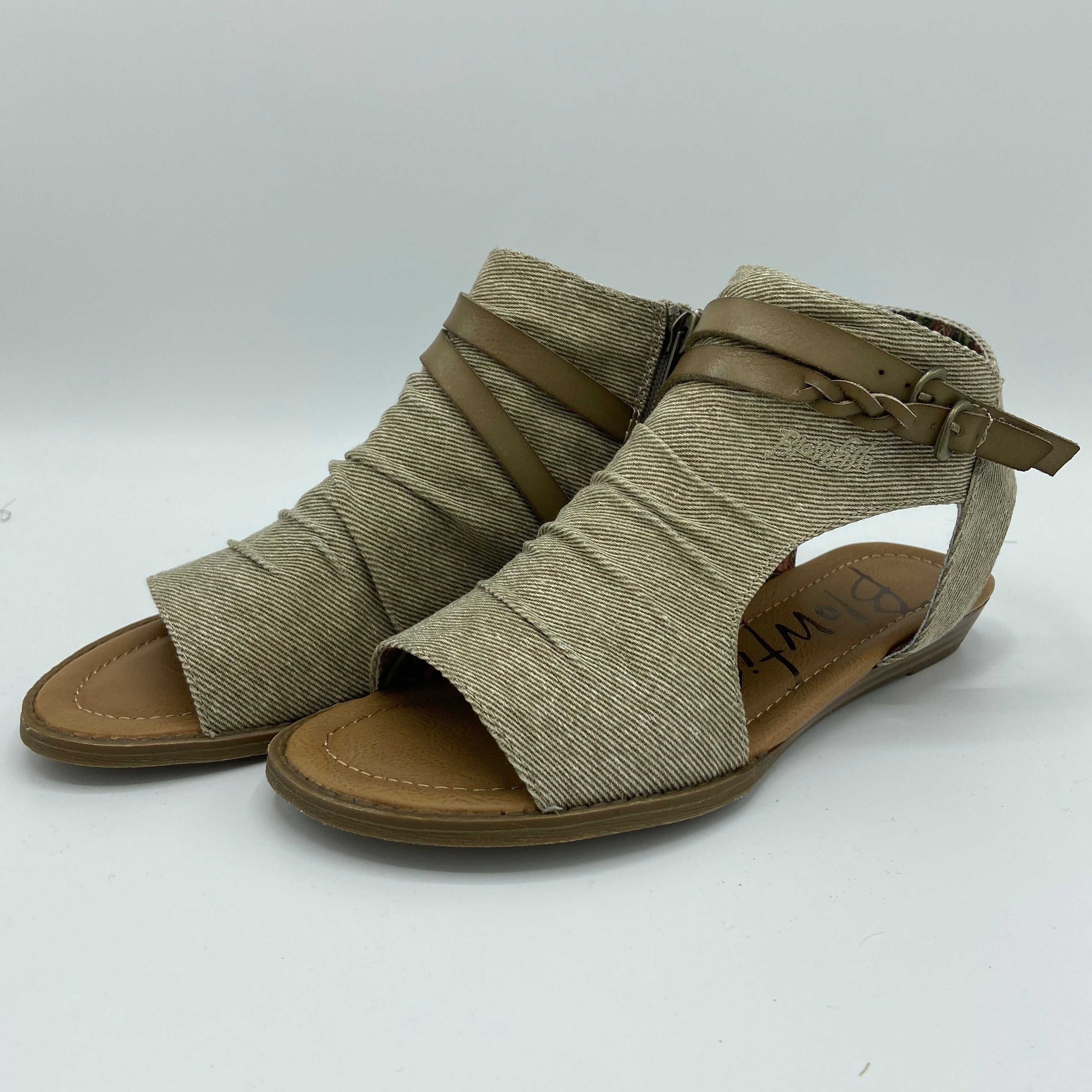 Taupe Strappy Twill Blowfish Sandal