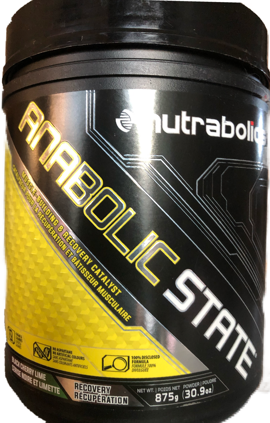 Nutrabolics Anabolic State 875g(70 serving)-Black Cherry Lime