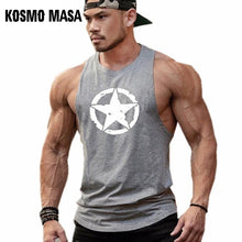 Load image into Gallery viewer, KOSMO MASA Cotton Tank Top Men Gym Fitness Muscle Workout Tank Top Stringer Bodybuilding MC0367
