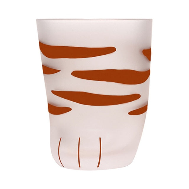 Creative Cute Cat Paws Glass TigerOffice Coffee Mug Tumbler Personality Milk Porcelain Cup Gift