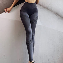 Load image into Gallery viewer, Women's High Waist Quick Dry Training Yoga Pants Seamless Elastic Push Up Gym Girls