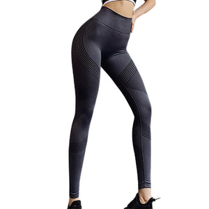 Women High Waist Quick Drying Sports Training Running Yoga Pants Seamless Jogging Elasticity Push Up Gyms Girls Hip Lift Fitness