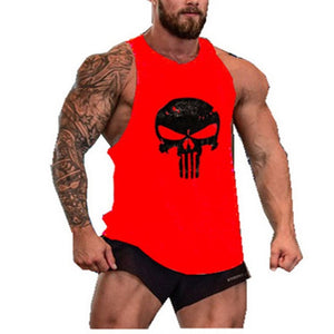 Punisher Fitness Clothing Tank Top Men Gym Bodybuilding Stringer Singlet Muscle Shirt Skull