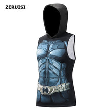 Load image into Gallery viewer, Superhero 3D printing bodybuilding stringer tank top men High elasticity fitness muscle hoodies