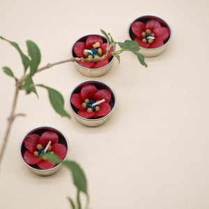 Red Escallonia Scented Tealights