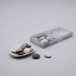 Handmade Small Pebble Soaps with Porcelain Dish Set
