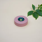 Blush Round Wooden Tealight Holder. Hand painted in pink blush a contermporary pastel colour.