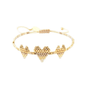 MISHKY HEARTSY TRIPLE ROW BRACELET