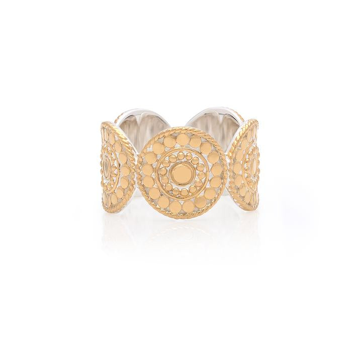 ANNA BECK CONTRAST DOTTED MULTI DISC RING